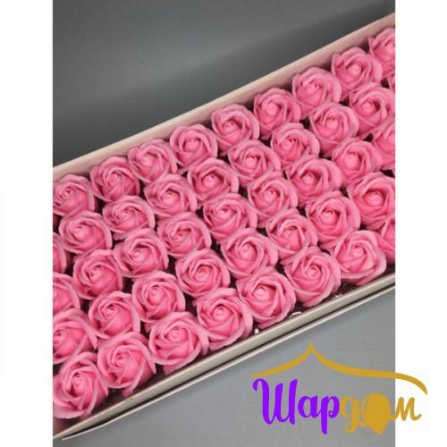 Розовые розы из мыла