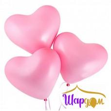 Гелиевое сердце розовое