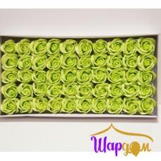 Салатовые розы из мыла