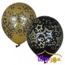 "Гелиевые шары ""Голливуд Black&Gold"""