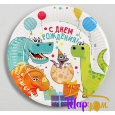 Тарелки динозаврики