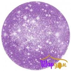 Гелиевый фольгированный круг искры фиолетовый