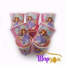 Стаканы принцесса София (розовые)