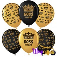 Гелиевые шары Босс $$$ Дэй (корона)