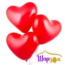 Гелиевое сердце красное