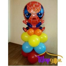 Человек паук фольгированный на шарах (азарной)