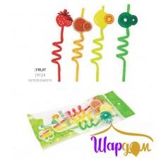 Трубочки для сока спиральки фрукты