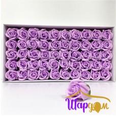 Светло-фиолетовые розы из мыла
