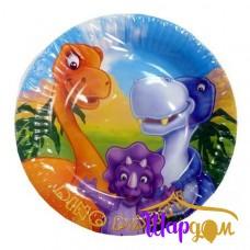 Тарелки бум Динозаврики