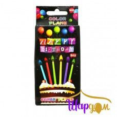 Свечи в торт с цветным пламенем (HAPPY BIRTHDAY)