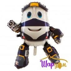 Гелиевая фигура Паровозик Робот-поезд Кей