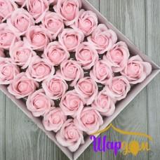 Нежно-розовые розы из мыла