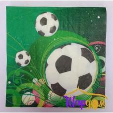 Салфетки Футбол (зеленый фон)