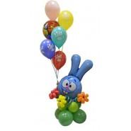 Композиции шары латексные с фольгой (фигуры)