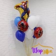 Пучок шаров в стиле человек паук