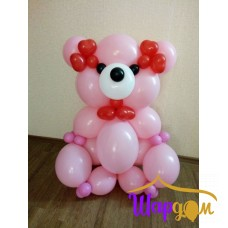 Мишка Гвидо розовый