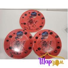 Тарелки Леди баг (красные)