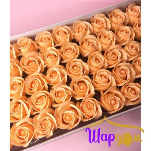 Персиковые розы из мыла