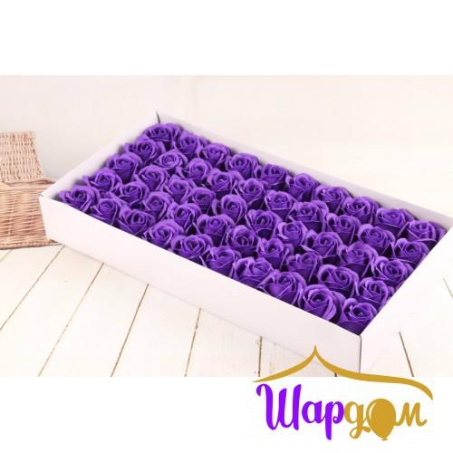 Тёмно-фиолетовые розы из мыла