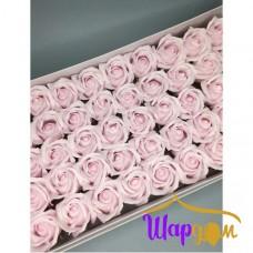 Бледно-розовые розы из мыла