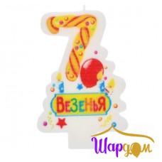 Свеча в торт цифра 7 (Везенья)