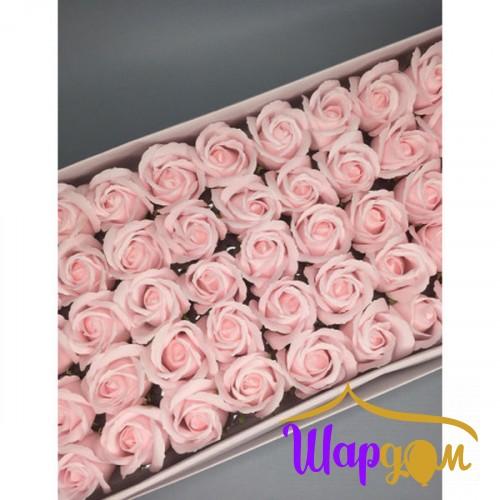 Пастельно-розовые розы из мыла