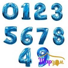 Цифры синие из фольги